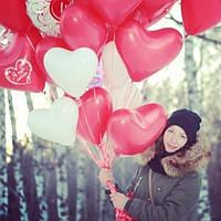"""Шар латексный в форме сердца с гелием Gemar Ballons (Италия) 26 см С надписью:""""Я тебя люблю!"""" Цвет на выбор"""