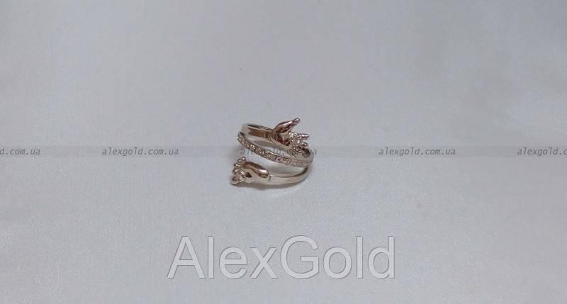 Серебряное кольцо с ручкой и ножкой