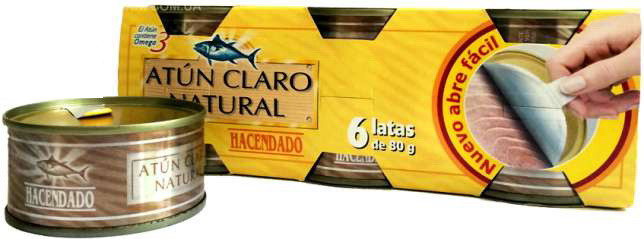 HACENDADO, Хакенадо Тунец в собственном соку, 80Г