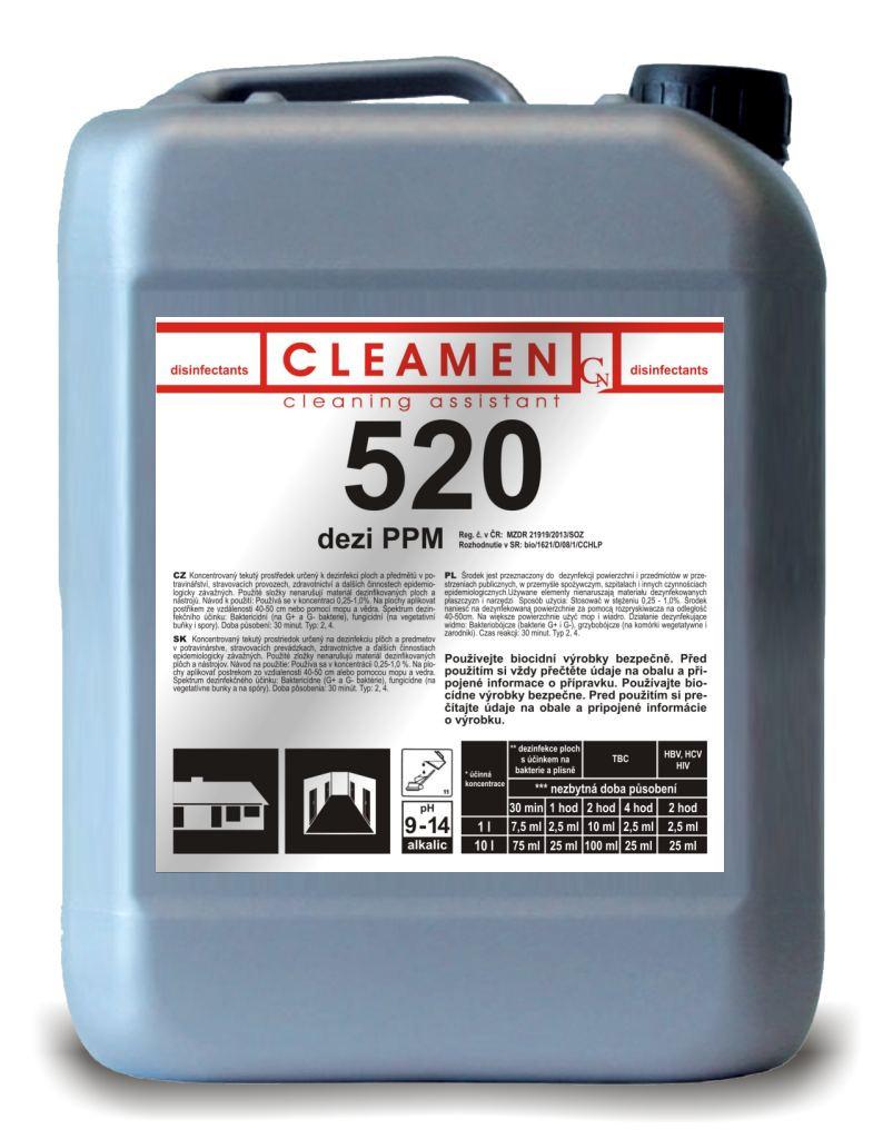 Дезинфицирующее средство для уборки 5л CLEAMEN 520 - Интернет-магазин бытовой и профессиональной химии в Харькове