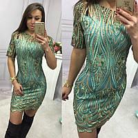 Платье из дорогого гипюра с золотой вышивкой