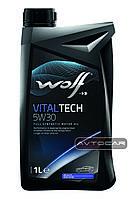 Синтетическое масло WOLF VITALTECH 5W30 ✔ емкость 1л.