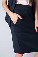 Юбка темная узкая с карманами Ю85, фото 1