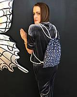 Рюкзак джинсовый с ласточками