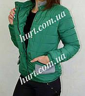 Женская куртка с добавлением серых вставок 10434