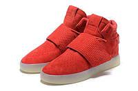 Женские кроссовки Adidas Tubular Invader красные