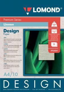 Односторонняя глянцевая дизайнерская фотобумага Лён, A4, 230 г/м2, 10 листов