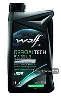 Синтетическое масло WOLF OFFICIALTECH 5W30 C3 ✔ емкость 1л.