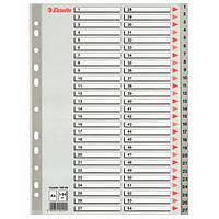 Разделители  Esselte пластиковые из ПП цифровые A4 1-54 100109