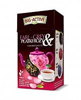 Чай чорный Big active earl gray (Биг актив чорный эрл грей с розой) 80 г. Польша