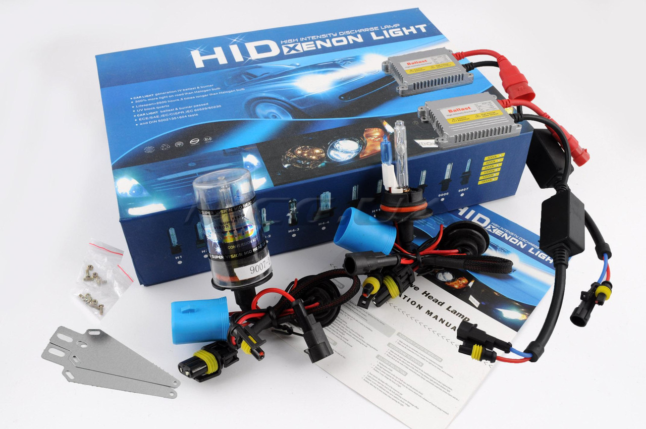 Ксенон (авто) HB5 (9007) AC 6000K 35W (+габарит) slim (арт:106)