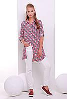Платье-рубашка в клетку TAYLOR розовая