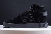 Женские кроссовки Adidas Tubular Invader черные, фото 1