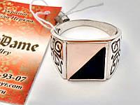 Мужское серебряное кольцо печатка 20 размер, фото 1