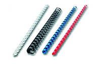 Пружины пластиковые для переплета 6 мм, синий35070