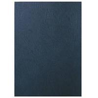 Обложка, текстура  кожа  250г., черный 33666