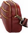 Вместительная кожаная мужская сумка 30118, рыжая, фото 3