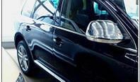 Накладки на зеркала (нерж.) Volkswagen Touareg (2007-2010)