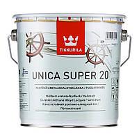 Лак яхтный  Unica Super Tikkurila полуматовый  2,7 л