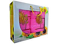 Полотенца махровые Sun Flover - Pink - 2 шт.- лицо - 50*90 - баня - 70*140 - 100% хлопок - Турция