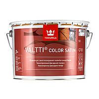 Лессирующий антисептик на основе талового и льняного масла для дерева Валтти Колор Сатин  ЕС 9,0 л
