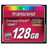 Карта памяти TRANSCEND Compact Flash 128 GB (800X)