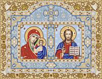 """Схема для вышивки бисером  """"Иконостас. Богородица Казанская и Христос Спаситель"""""""