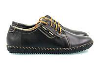 Спортивные женские черные туфли прошитые желтыми нитками, фото 1