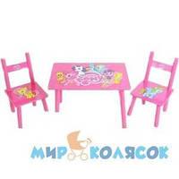 BAMBI (METR Plus) Столик Plus 2 стульчика My Little Pony розовый (M 1522)