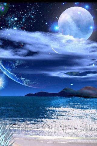 Алмазная вышивка Океан в ночи 30 х 40 см (арт. FS328)