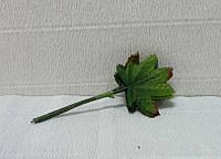 Листочки для декора-35, клен (пучок), 11см