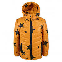 Детская демисезонная куртка - жилетка на мальчика, р.98-140