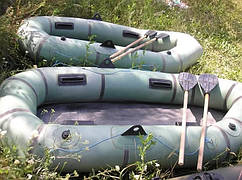 Лодка Лодка резиновая  из ткани бцк язь  двухместная , оригинал грузоподъемность 220 кг.