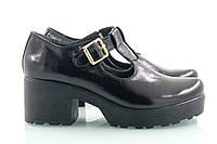 Черные туфли на каблуке 4020-03ч, фото 1