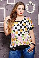 Блуза с оригинальной спинкой КАТРИН белая