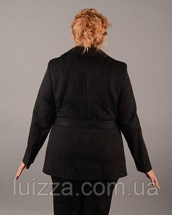 Жакет жаккардовый  50-62р черный, фото 2