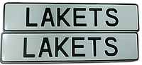 Сувенирный номер на металле  на авто без флага