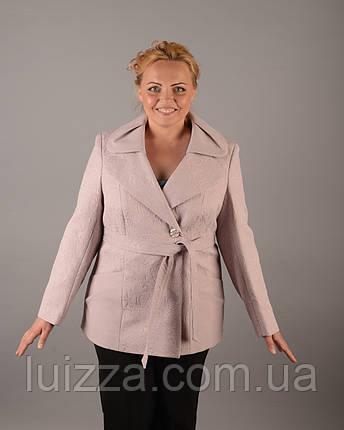 Жакет жаккардовый  50-62р розовый, фото 2