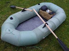 Лодка резиновая из ткани бцк  полуторка, оригинал грузоподъемность 180 кг.