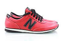 Красные женские кроссовки с белой строчкой New Balance, фото 1