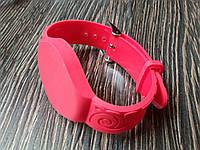Заготовка ключа силиконовый браслет для домофона RFID 5577  Цвет красный