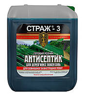"""Антисептик-антижук для деревянных конструrций """"Страж-3"""" (готовый роствор) 10л"""