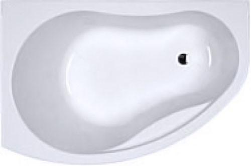 PROMISE ванна асимметричная 150*100 см, левая, белая, с ножками