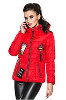 Демисезонная женская куртка цвет красный (р. 42-54 )