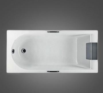 MIRRA ванна прямоугольная 160*75 см, с ножками, элементами крепления и подголовником