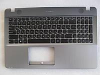 Клавиатура для ноутбуков Asus VivoBook Max X541 в сборе: черная в крышке цвета серебристый металик
