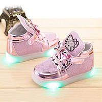 Кроссовки LED светящиеся Hello Kitty