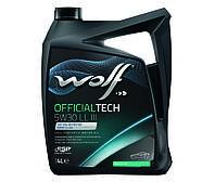 Синтетическое масло WOLF OFFICIALTECH 5W30 LL III ✔ емкость 5л.