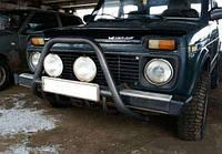 Защита переднего бампера кенгурятник крашенный   D60 на Lada Niva 2121-21214
