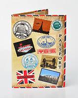 """Обложка для паспорта из эко-кожи """"Незабываемое путешествие"""""""